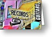 Store Fronts Greeting Cards - Music  Greeting Card by John King