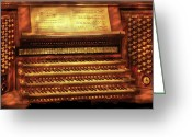 Musicals Greeting Cards - Music - Organist - The Pipe Organ Greeting Card by Mike Savad