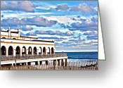 Kevin Sherf Greeting Cards - Music Pier Greeting Card by Kevin  Sherf