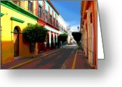 Image Gypsies Greeting Cards - Music Street by Darian Day Greeting Card by Olden Mexico