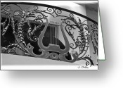 Banister Greeting Cards - Musical Banister Greeting Card by Patricia Stalter