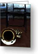 Brass Instruments Greeting Cards - Musical Chairs Greeting Card by Steven  Digman