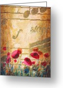 Sax Greeting Cards - Musical Garden part 2 of 2 Greeting Card by Christopher Clark