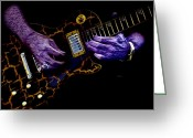 Musicians Digital Art Greeting Cards - Musical Grunge  Greeting Card by Steven  Digman