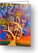 Tony B. Conscious Greeting Cards - Musical Roots Greeting Card by Tony B Conscious