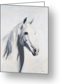 Wild Horse Painting Greeting Cards - Mustang Mama Greeting Card by Jack Atkins