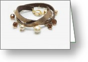 Gold Bracelet Greeting Cards - My Art Jewelry Greeting Card by Eena Bo