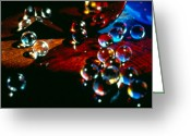 Romance Glass Art Greeting Cards - My Begining Greeting Card by Etti Palitz