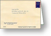 United States Postage Greeting Cards - My Birthday Card from The Neptune Society Greeting Card by Sean Griffin