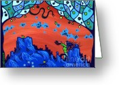 Keough Greeting Cards - My Blue Heaven Greeting Card by Dan Keough