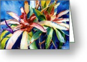 Reproducciones Tropicales Greeting Cards - My Bromelias Greeting Card by Estela Robles