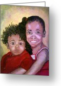 Keenya Woods Greeting Cards - My Brothers Keeper  Greeting Card by Keenya  Woods