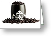 Coffe Greeting Cards - My cup runneth over Greeting Card by Keith Allen