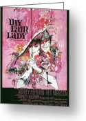 George Harrison Photo Greeting Cards - My Fair Lady Greeting Card by Nomad Art and  Design