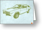 Muscle Cars Greeting Cards - My Favorite Car 2 Greeting Card by Irina  March