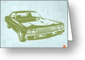 Muscle Cars Greeting Cards - My Favorite Car 5 Greeting Card by Irina  March