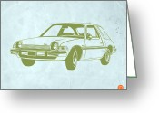 Muscle Cars Greeting Cards - My Favorite Car  Greeting Card by Irina  March