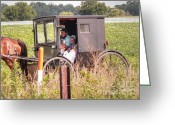 Amish Family Greeting Cards - My Favorite Greeting Card by David Bearden