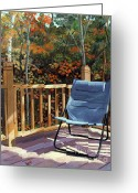 Camp Greeting Cards - My Favorite Spot Greeting Card by Lynne Reichhart