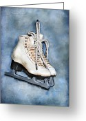 Skates Greeting Cards - My first pair of skates Greeting Card by Renee Dawson