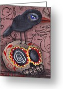 Skull Painting Greeting Cards - My Friend Greeting Card by  Abril Andrade Griffith