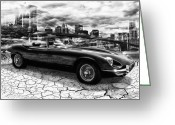 Jaguar E Type Greeting Cards - my friend Jag-E Greeting Card by Joachim G Pinkawa