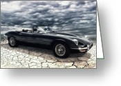 Roadster Greeting Cards - my friend the Jag Greeting Card by Joachim G Pinkawa