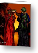Senegal Greeting Cards - My Fula  Greeting Card by Sam Roberts