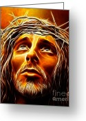 Good Friday Digital Art Greeting Cards - My God  Why Have You Abandoned Me Greeting Card by Pamela Johnson