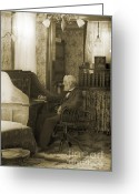 Veteran Photography Greeting Cards - My Great-great-grandfather 1885 Greeting Card by Jan Faul