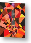Guitar Pastels Greeting Cards - My Guitar Greeting Card by James  Mingo