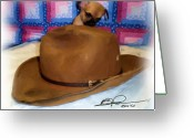 Teacup Digital Art Greeting Cards - My HAT Greeting Card by Beverly Johnson
