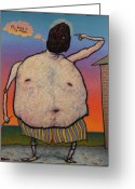 Bright Greeting Cards - My head is a raisin. Greeting Card by James W Johnson