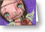 Eyed Greeting Cards - My Heart Greeting Card by  Abril Andrade Griffith