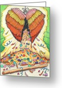 Karma Greeting Cards - My Heart Is A Pinata Greeting Card by Amy S Turner