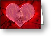Hug Digital Art Greeting Cards - My Hearts Desire 2 Greeting Card by Kurt Van Wagner