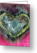 Heart Sculpture Greeting Cards - My heavy heart Greeting Card by Jane Clatworthy