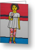 Photographer Drawings Greeting Cards - My Ice Cream  Greeting Card by Marwan George Khoury
