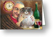 Elderly Painting Greeting Cards - My Jewels Greeting Card by Shelly Wilkerson