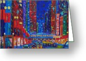 Chicago Artist Greeting Cards - My Kind of Town Greeting Card by J Loren Reedy