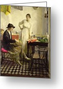 Black Jacket Greeting Cards - My kitchen Greeting Card by Harold Harvey