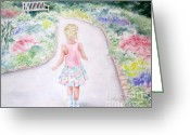 Blonde Girl Greeting Cards - My Little One Greeting Card by Deborah Ronglien