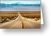 Yellow Line Greeting Cards - My Love Is A Freeway Greeting Card by Sky Noir Photography by Bill Dickinson