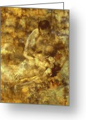 Lovers Embrace Greeting Cards - My Love Greeting Card by Kurt Van Wagner