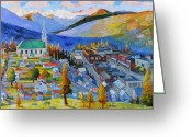Gloaming Greeting Cards - My Mountain Home Greeting Card by Gregg Caudell