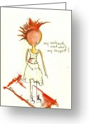 Little Girls98 Greeting Cards - My Mowhawk Matches My Carpet Greeting Card by Ricky Sencion
