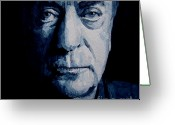 Actor Greeting Cards - My name is Michael Caine Greeting Card by Paul Lovering