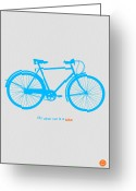 Bike Rider Greeting Cards - My Other Car Is A Bike  Greeting Card by Irina  March