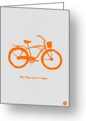 Bike Rider Greeting Cards - My other car is bike Greeting Card by Irina  March