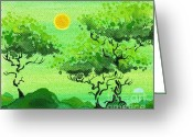 Keough Greeting Cards - My Painting Greeting Card by Dan Keough